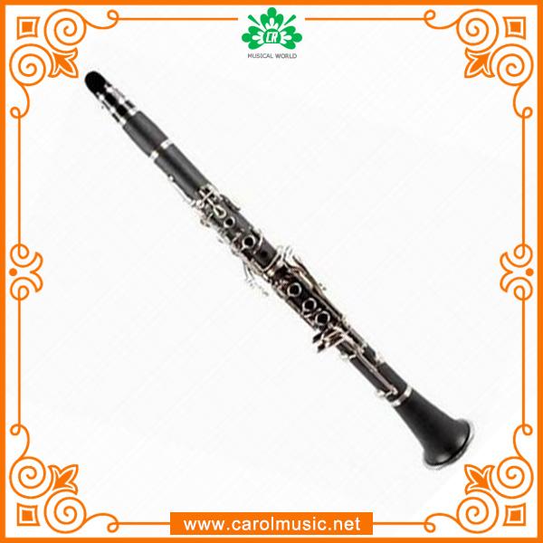 Fábrica OEM prateado clarinete de madeira
