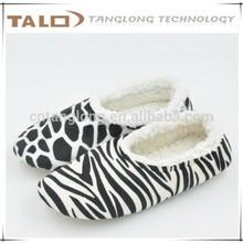 printing fleece women slippers for indoor using