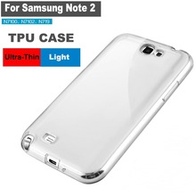 Wholesale TPU transparent silicone phone case for Samsung Note II