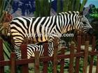 Outdoor playground sculpture fiberglass life size animal statues