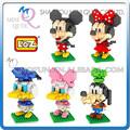 Mini qute diy 3d grande cabeça do rato dos desenhos animados kids posicionando diamante nano bloco cubo de plástico blocos de construção brinquedos educativos n. 9414