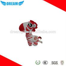 Custom soft plush zebra stuffed animal