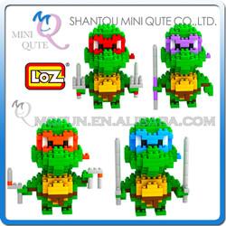 Mini Qute Ninja turtle cartoon boys loz diamond nano block plastic cube building blocks bricks educational toy 3d puzzle NO.9148
