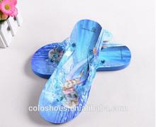 2014 Newest design kids wholesale frozen flip flops