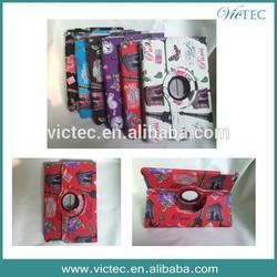 For iPad case pu leather rotary smart fashion design