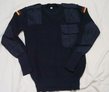 Germay army navy blue military cheap thick wool pullover sweater