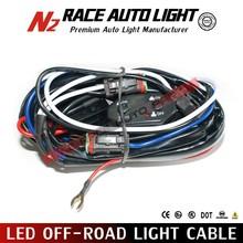 Universal fog light wiring harness switch / Driving Fog Lights Wire Harness Switch LED with Fuse Relay