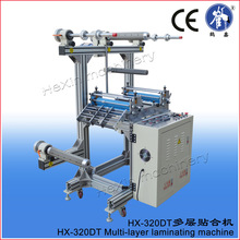 Automatic roll pp film laminator with 5 shafts