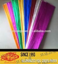 color side,aluminum foil crepe paper