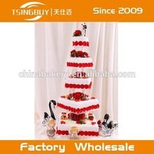 Haute qualité hot vente pas cher boulangerie vitrine belle gâteau de mariage modèle faux gâteau