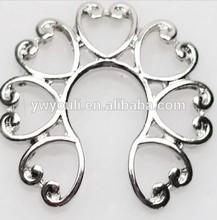 Fashion non- piercing body jewelry heart shape 316l stainless steel nipple jewlery ring shield piercing