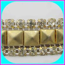 fashion crystal rhinestone & studs trimming banding