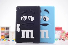 3D Cute Silicone Kids M&M Chocolate jelly Bean Cover Case for ipad 2/3/4,10pcs/lot