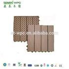 Nature wood grain wpc slip resistant outdoor tile