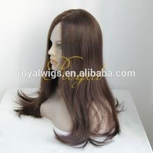 elegant middle parting jewish kosher wig with silk top virgin European human hair