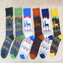 HFR-JA13 hot China supplier cheap cotton long Christmas sock