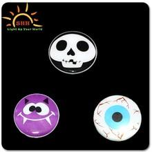 halloween led flashing badge/scrolling message led badge pin./metal pin badge