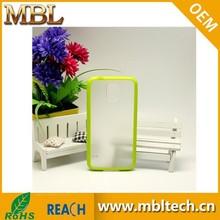 PC TPU Hard Cover Green Border Transparent Gel Skin Case For Samsung Galaxy S5