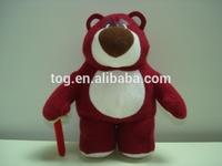 Custom-Made Cute Red Cartoon Stuffed Plush Animal Bear Toy