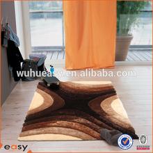 soft polyester silk new design 3d floor carpet for Bedroom