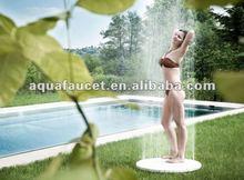 Round water raise up outdoor shower
