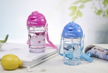 Hot Selling New Design 600ml Wave Sport Bottle Double Structure Foodgrade Kids Plastic Water Bottle