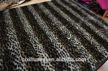 faux fur boa fur printed with leopard print
