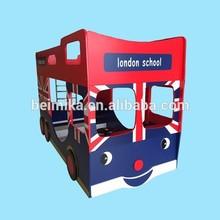London school bus Bunk Bed kids bus bunk bed