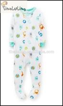brand new 2015 winter thick footed pajamas kids fleece sleepwear baby pajama