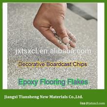Attractive durable epoxy White Acrylic Flakes floor coating
