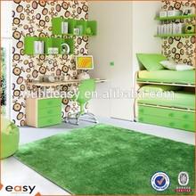 Green Color Mixed Polyster Kindergarten Child Carpet