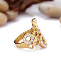 hot sale steel crystal new design ladies finger ring