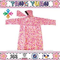 Girl raincoat, raincoat, rainwear with heart printings