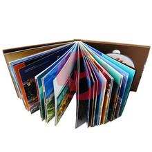 Hardback magazines printing case bound books hardcover book