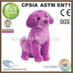 Custom-made production plush red dog animal