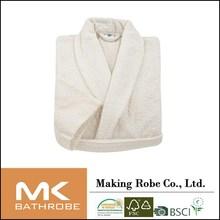 unisex personalized white coral fleece bathrobe lounge wear