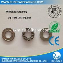 Groove Thrust Bearings Miniature Thrust Ball Bearings F8-16M