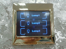 New design overall glass panel metallic sound EU standard CE/ISO9001/CQC touch panel switch for smart home