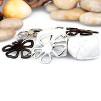 fashion stainless steel lucky jewelry charm bracelet