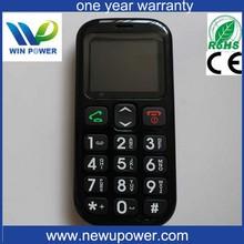 big button sim card hearing aid sos W76 senior phone old man mobile phone