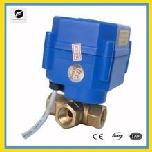 "3 way 1/4"" motor ball valve T flow for solar water system water heater 3v 5v"