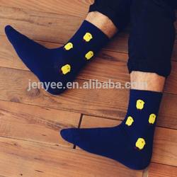 Popular custom wholesale cartoon teen boy tube sock with sock puppet