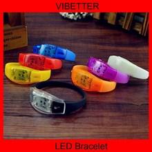 "Assort Flashing Bracelet Wristband LED Light Up Glow ""HAPPY"" Party Favor"