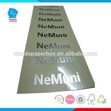 Custom logo silver transparent sticker