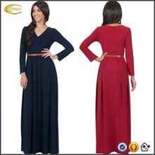 Women's V-Neck Long Sleeve pakistani Elegant Cockatil Evening Formal Maxi Dress OEM supplier China