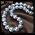 Larga cadena de oro collar de perlas collar de perlas pequeñas diseños 4-12mm moderno collar de perlas de diseño