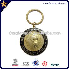Cheap custom shaped 3D metal keychain