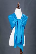 blue color beautiful lastest design infinity hot sale casmere and silk scarf