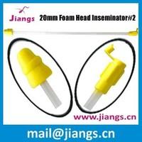 Jiangs 22mm polyurethane foam gun for pig artificial insemination working