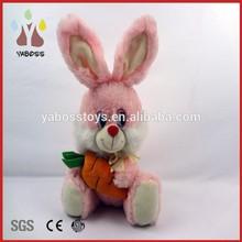 Factory direct plush toy animal rabbit custom plush rabbit with carrot